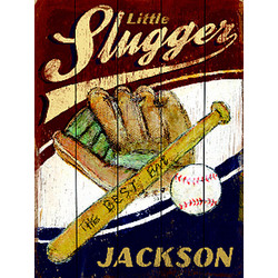 Personalized Little Slugger Plaque