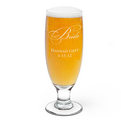 Bride Personalized Beer Glass