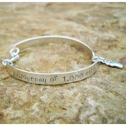 A Journey of a Thousand Miles Sterling Bracelet