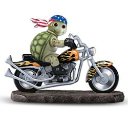Born to Ride Collectible Turtle and Motorcycle Musical Figurine