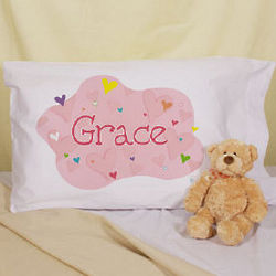 She's All Heart Personalized Pillowcase