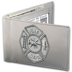 Firefighter Stainless Steel Wallet