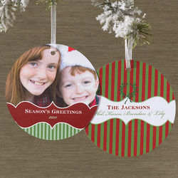 Personalized Hanging Ornament Photo Cards