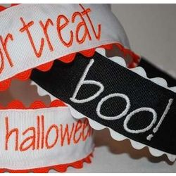 Embroidered Halloween Headband