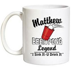 Personalized Beer Pong Legend Mug