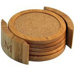 Eco-Green Bamboo Cork Coasters