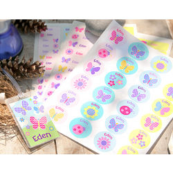 Butterflies and Flowers Name Labels