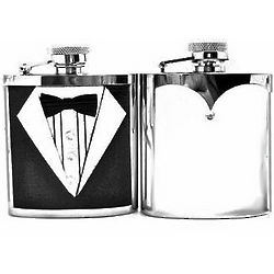 Bride and Groom Personalized Wedding Flasks