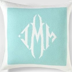 Queen of Cashmere Monogram Pillow