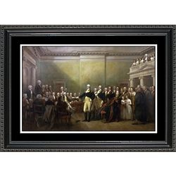 Washington Resigns His Commission Framed Print