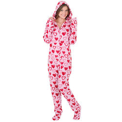 Women's Hoodie-Footie Sweetheart Snuggle Fleece