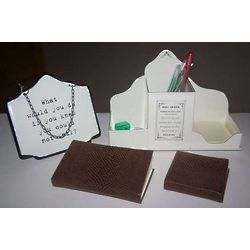 Plaque Desk Gift Set
