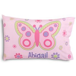 Kid's Personalized Butterfly Pillowcase