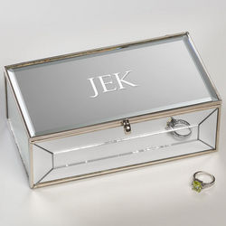 Small Reflections Engraved Jewelry Box