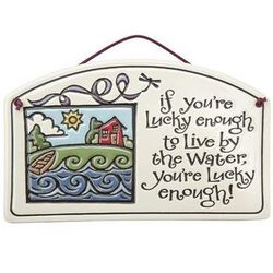 Lucky Water Ceramic Sign