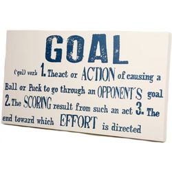 Hockey Goal Definition Sign