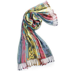 Artists Palette Fringed Scarf