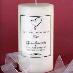 Ribbon Heart Memorial Candle