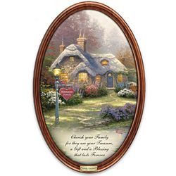 Thomas Kinkade Family Treasures Personalized Plate
