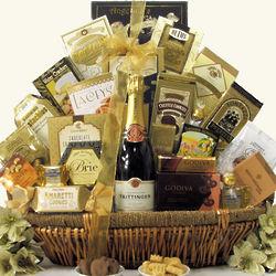 Grand Gourmet Taittinger Brut Champagne Gift Basket