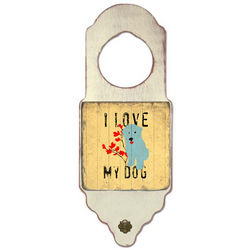 I Love My Dog Door Hanger