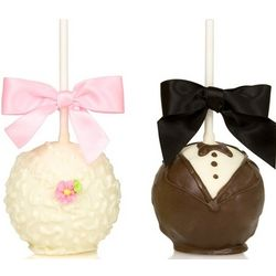 Chocolate Covered Bride and Groom Crispie Couple