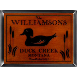 Personalized Wood Duck Design Cabin Pub Sign