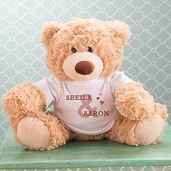 "13"" Coco Teddy Bear with Personalized Couples Tee"