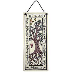 Handmade Tree of Life Quote Ceramic Plaque