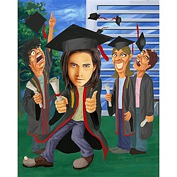 Commencement-Graduation Caricature from Photo