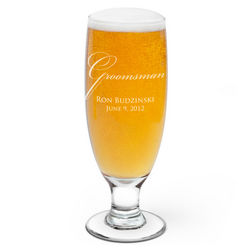 Groomsman Personalized Beer Glass