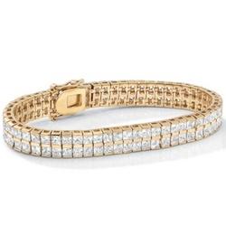 14k Gold-Plated Cubic Zirconia Tennis Bracelet