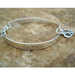 Peace & Love Sterling Bracelet