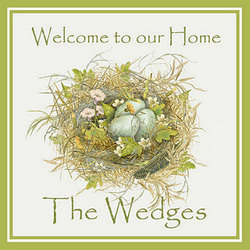 Personalized Welcome To Our Home Plaque