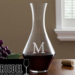 Personalized Wine Decanter with Initial Monogram