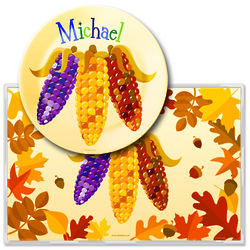 Thanksgiving Personalized Meal Time Plate Set