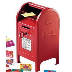 Miniature Red Mailbox with 2 Keys