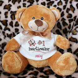 Number One Heartbreaker Custom Teddy Bear