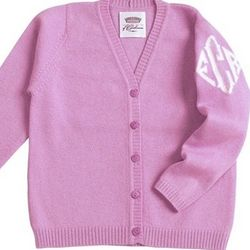 Queen of Cashmere Monogrammed Children's Cardigan