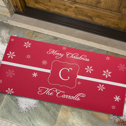 Personalized Winter Wonderland Large Holiday Doormat