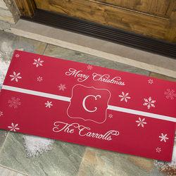 Personalized Winter Wonderland Large Holiday Doormat