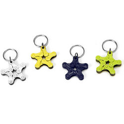 Bike Chain Star Keychain