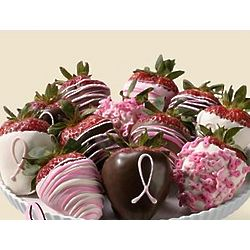 Dozen Hand-Dipped Pink Ribbon Strawberries