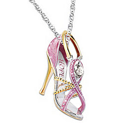 Step Out For Hope Pink Pendant Necklace