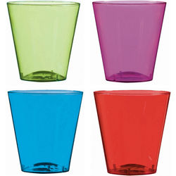 Assorted Colored Shot Glasses