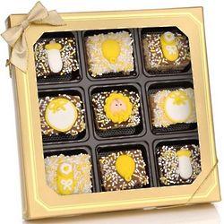 New Baby Chocolate Dipped Krispies Gift Box
