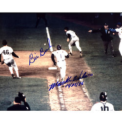 Bill Buckner and Mookie Wilson Dual Autographed Photo
