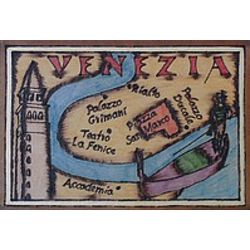 Venice Map Leather Photo Album