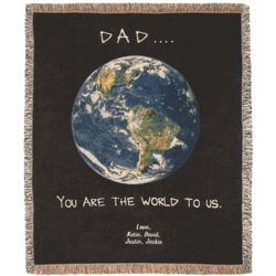 Personalized Dad Tapestry Throw
