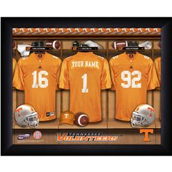 Personalized Tennessee Vols College Football Locker Room Print
